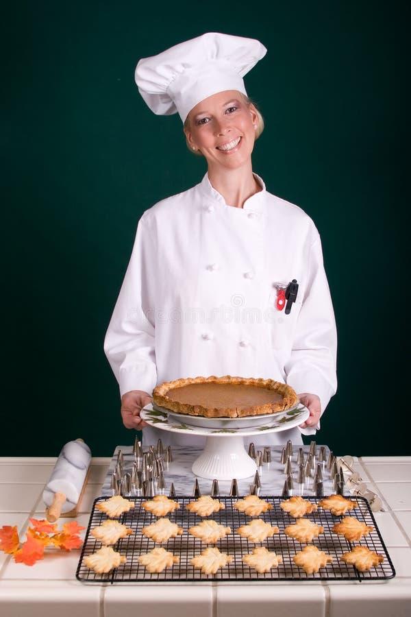 Cuoco unico del grafico a torta di zucca immagine stock libera da diritti