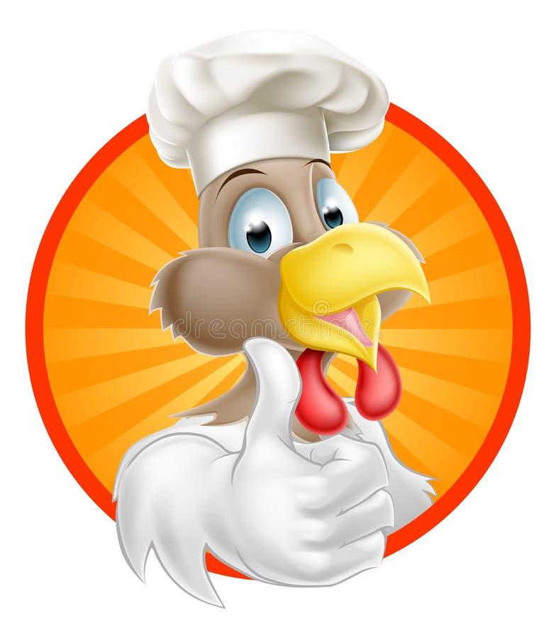 Cuoco unico del pollo illustrazione vettoriale