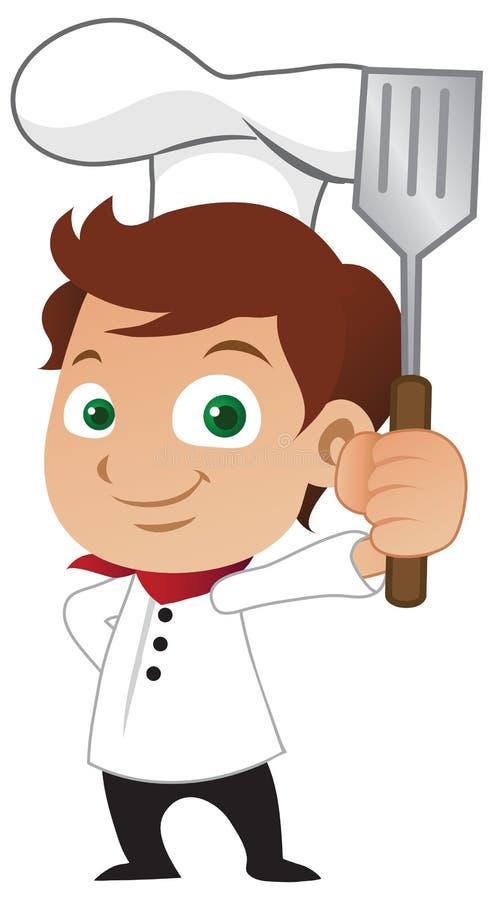 Cuoco unico del ragazzo illustrazione vettoriale