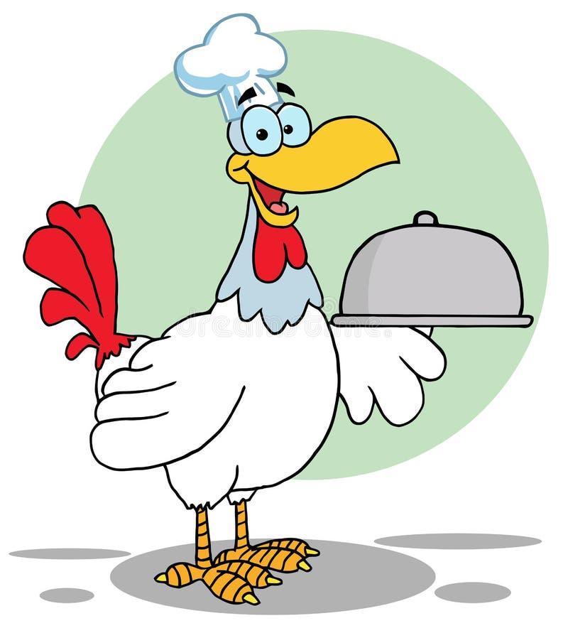 Cuoco unico dell'uccello del gallo illustrazione vettoriale