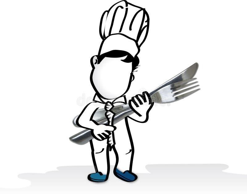 Cuoco unico di affari royalty illustrazione gratis