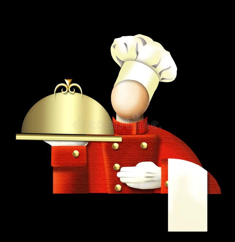 Cuoco unico di art deco illustrazione di stock