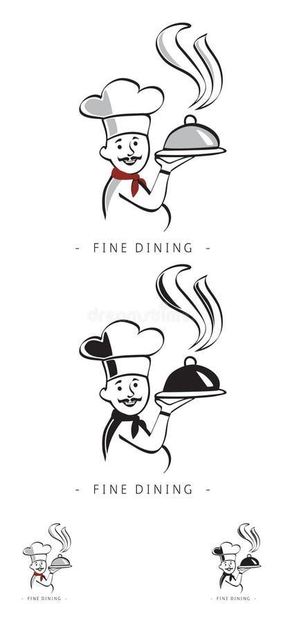 Cuoco unico di vettore illustrazione di stock