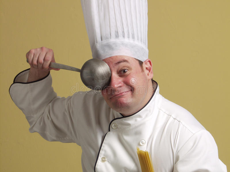 Cuoco unico divertente. fotografia stock