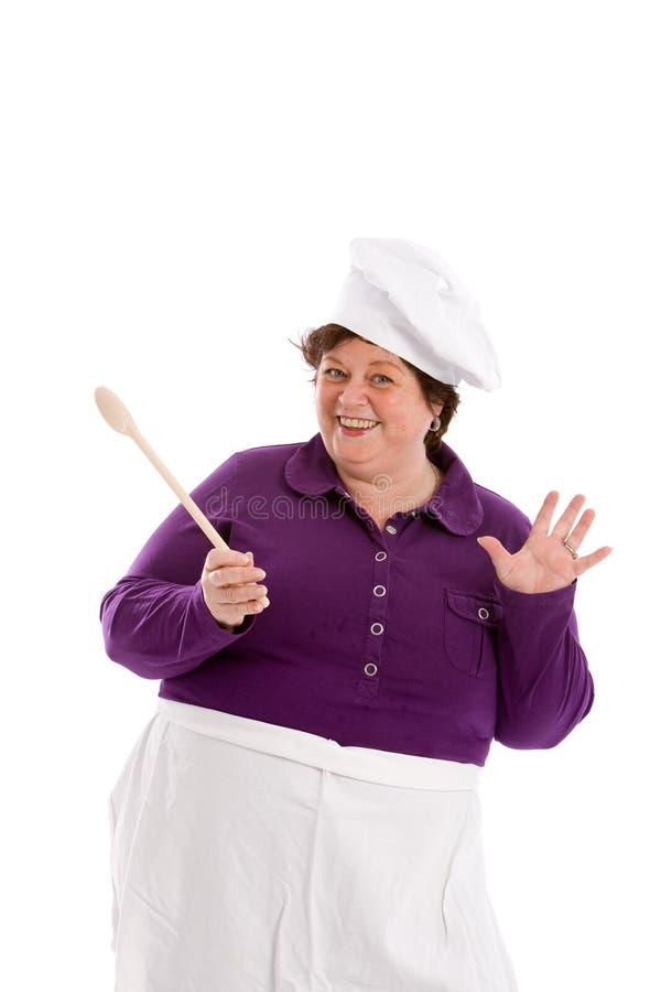Cuoco unico divertente fotografia stock