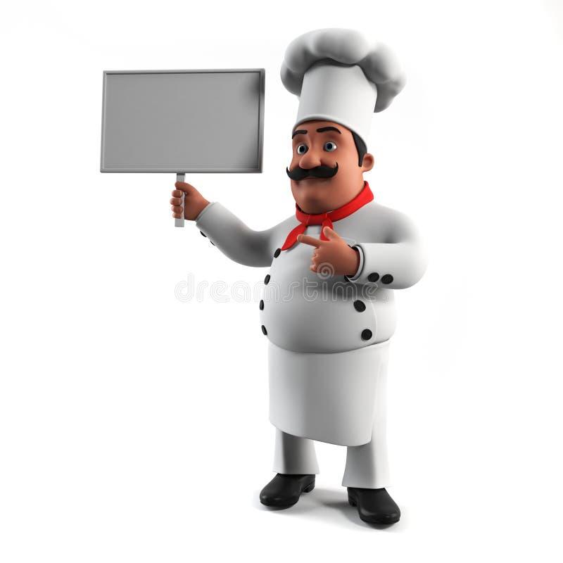 Cuoco unico divertente della cucina royalty illustrazione gratis