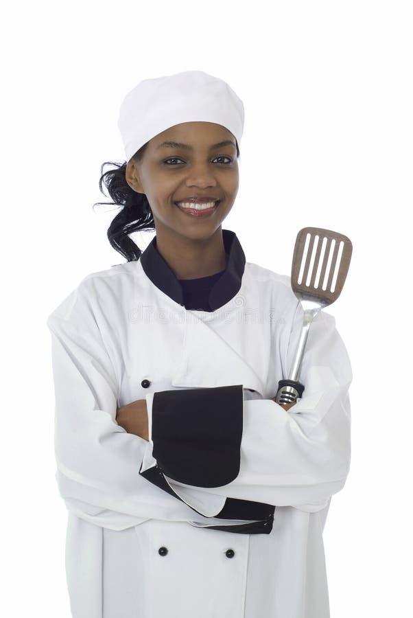 Cuoco unico ed utensile di cottura fotografia stock libera da diritti