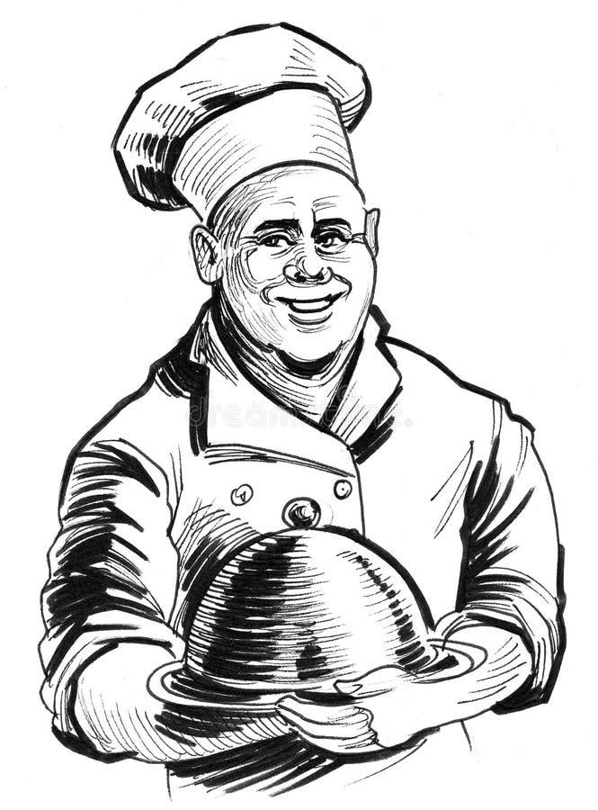 Cuoco unico felice royalty illustrazione gratis