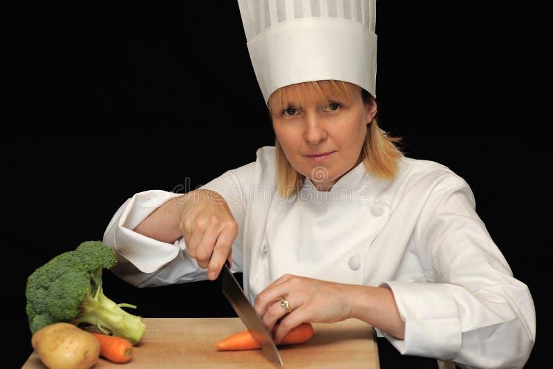 Cuoco unico femminile   immagine stock