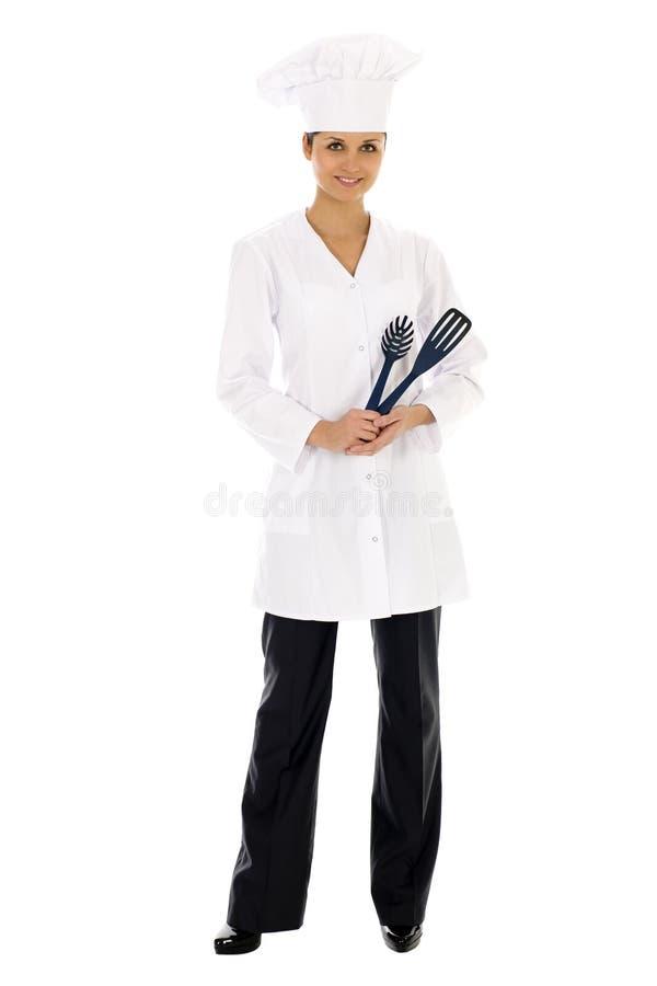 Cuoco unico femminile immagine stock libera da diritti