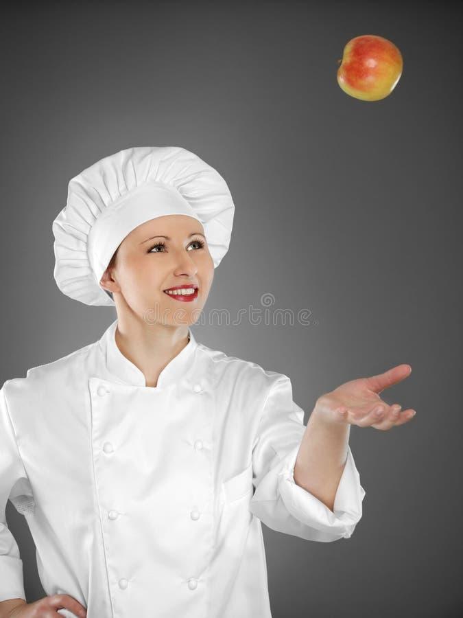 Cuoco unico femminile giovane fotografia stock libera da diritti