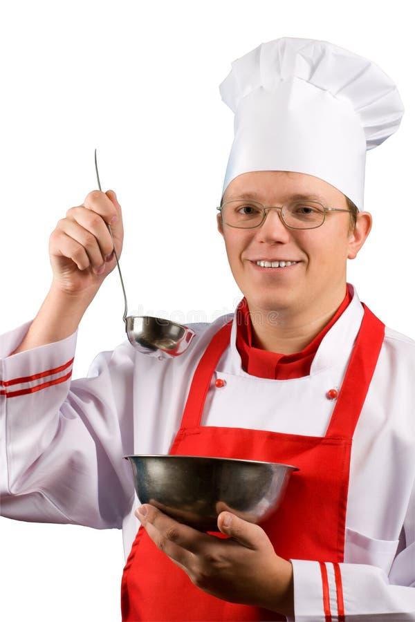 Cuoco unico fiero felice immagine stock libera da diritti
