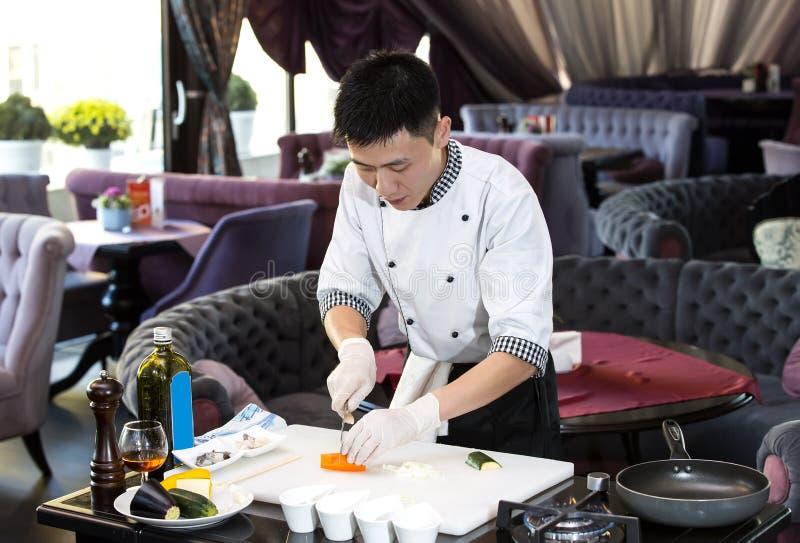 Cuoco unico giapponese fotografia stock libera da diritti