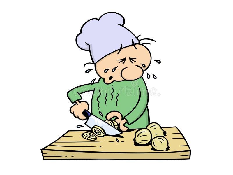 Cuoco unico gridante illustrazione vettoriale