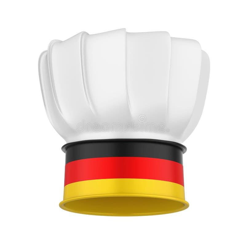 Cuoco unico Hat Isolated della Germania illustrazione di stock