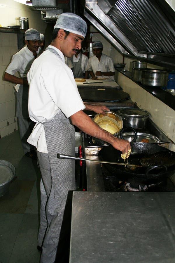 Cuoco unico indiano immagine stock