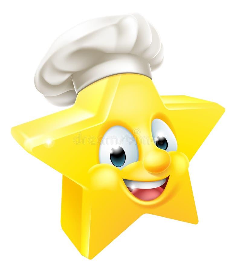 Cuoco unico o panettiere della stella illustrazione vettoriale