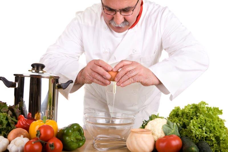 Cuoco unico occupato fotografia stock libera da diritti