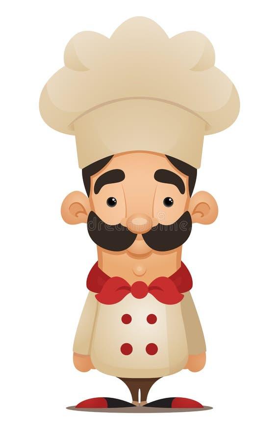 Cuoco unico. Personaggio dei cartoni animati sveglio royalty illustrazione gratis