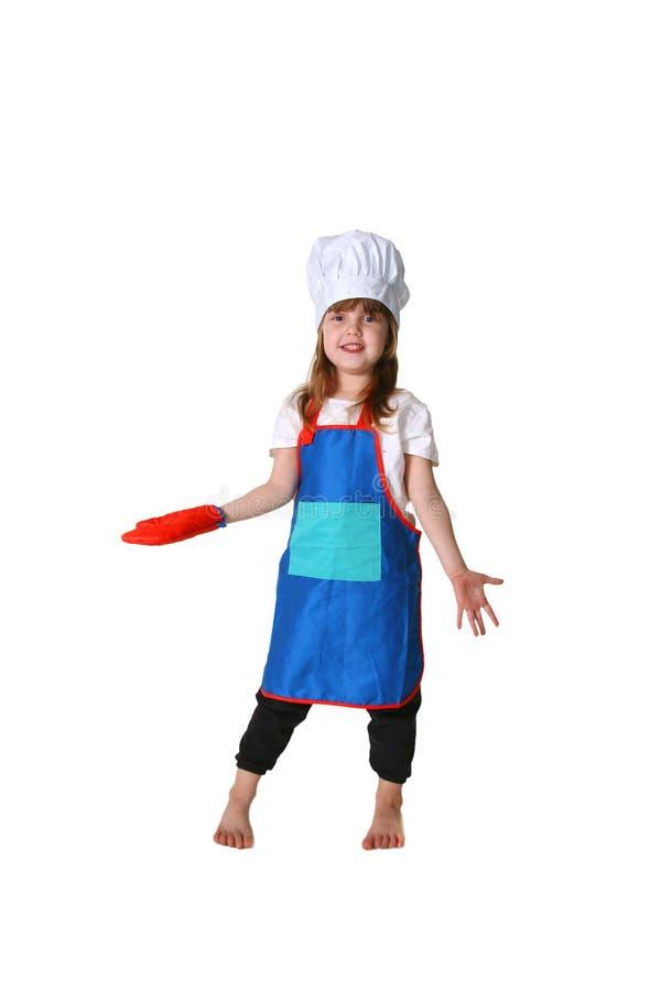 Cuoco unico sciocco della ragazza fotografia stock libera da diritti