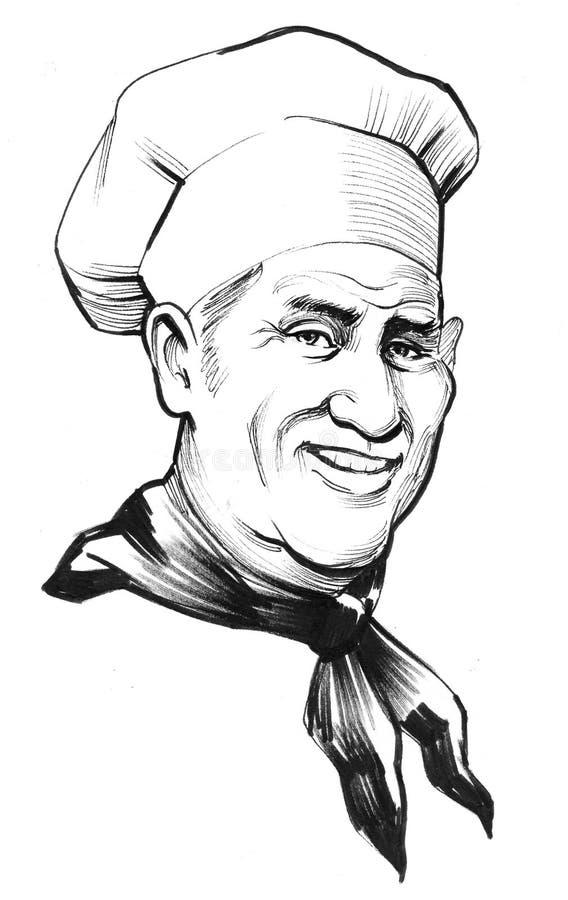 Cuoco unico sorridente royalty illustrazione gratis