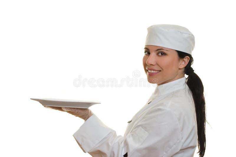 Cuoco unico sorridente fotografie stock