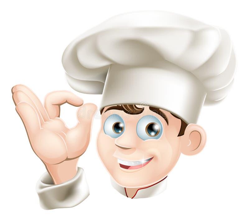 Cuoco unico sorridente del fumetto royalty illustrazione gratis