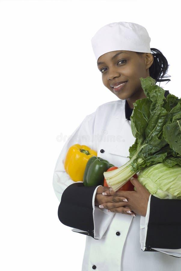 Cuoco unico, spinaci, cavolo e peperoni fotografia stock