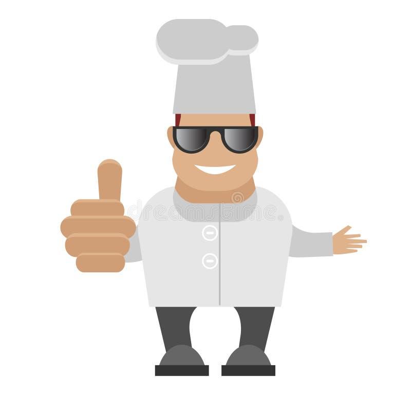 Cuoco unico in vetri illustrazione vettoriale