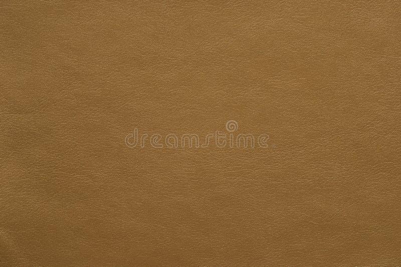 Cuoio colorato marrone chiaro del faux con una struttura fine fotografia stock libera da diritti
