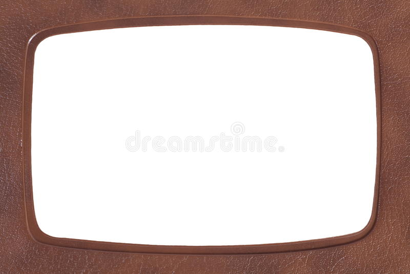Cuoio del titolare della carta di identificazione fotografie stock libere da diritti