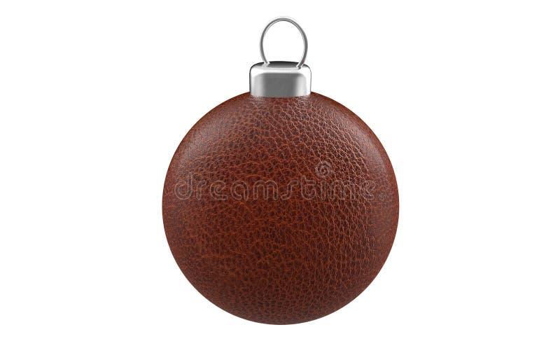 Cuoio della palla di Natale fotografia stock