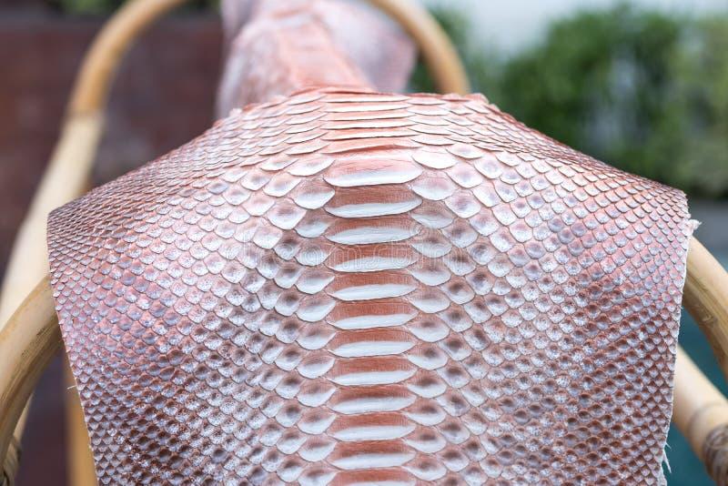 Cuoio genuino dello snakeskin del pitone pelle di for Piscina fondo nero