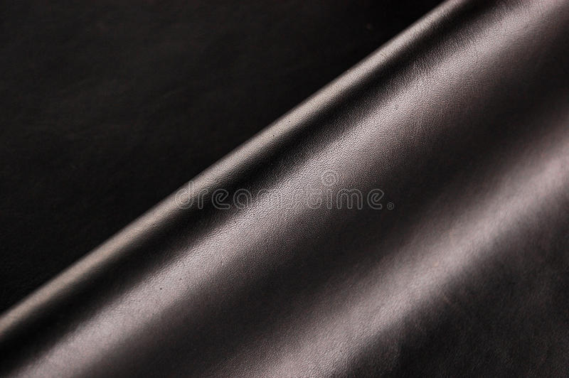Cuoio nero immagini stock