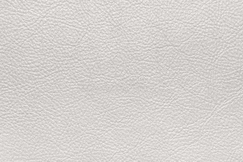 Cuoio strutturato bianco Superficie piana immagine di sfondo, struttura fotografia stock libera da diritti
