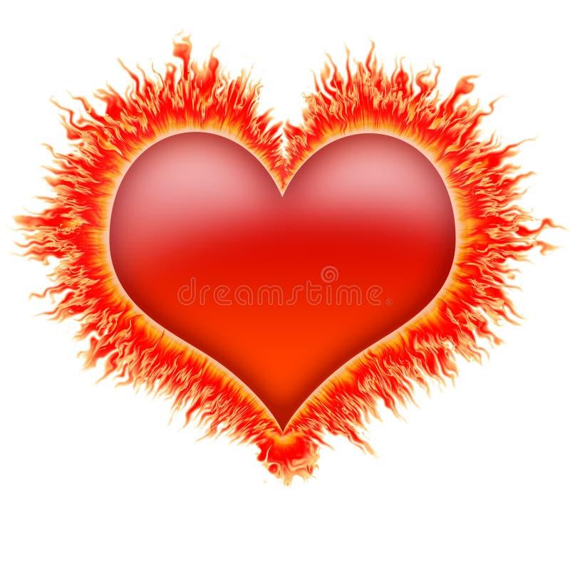 Cuore 1 del fuoco royalty illustrazione gratis