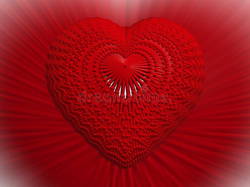 cuore 3D illustrazione vettoriale