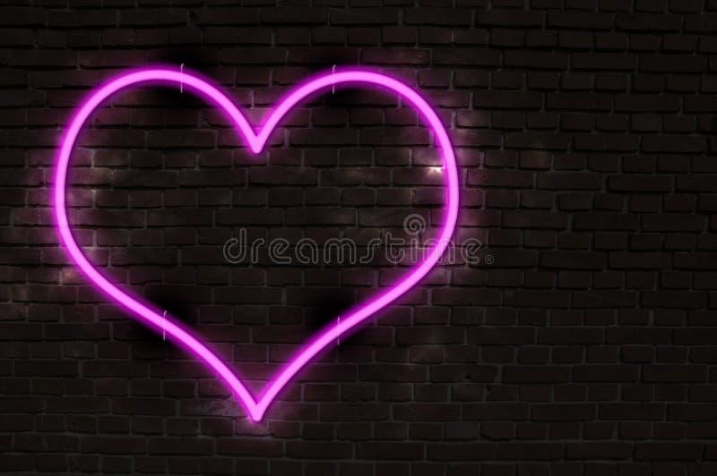 Cuore al neon fotografie stock libere da diritti