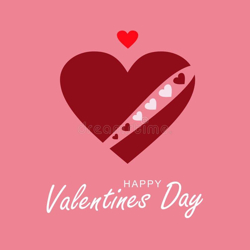 Cuore amoroso Cuore del cioccolato con una corona rossa dal cuore immagine stock