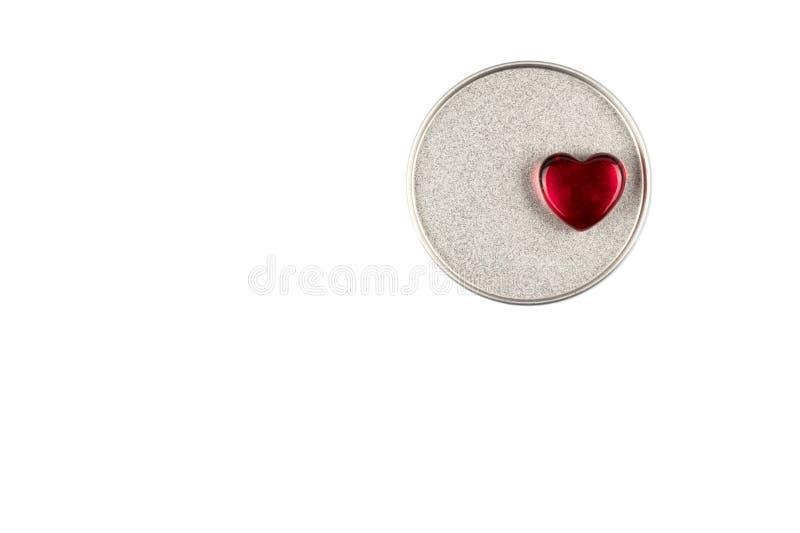 Cuore astratto come simbolo del giorno di S. Valentino su fondo bianco fotografie stock libere da diritti