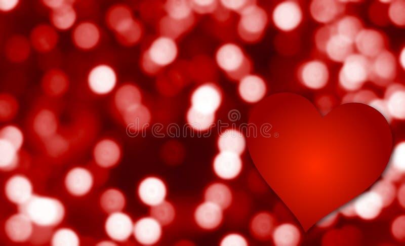 Cuore astratto di amore di giorno di biglietti di S. Valentino royalty illustrazione gratis