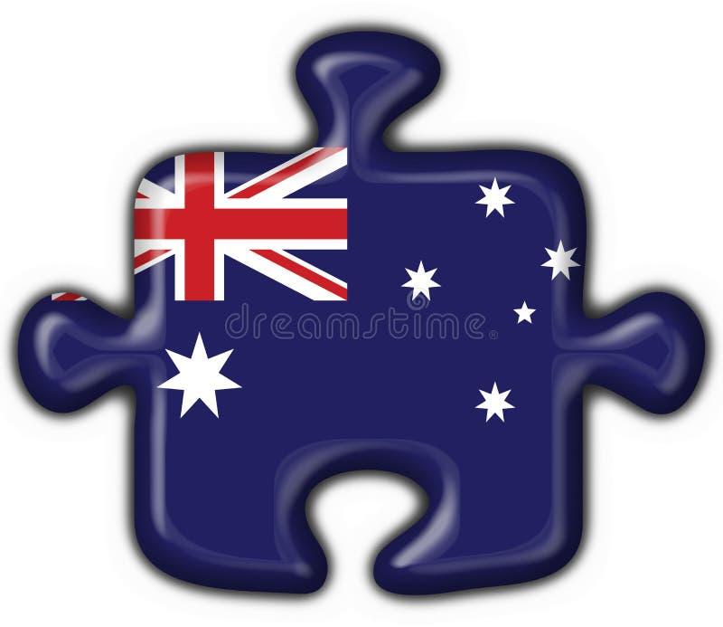 Cuore australiano di puzzle del tasto illustrazione vettoriale
