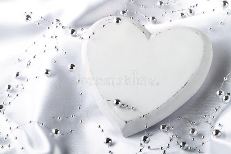Cuore bianco fotografie stock libere da diritti