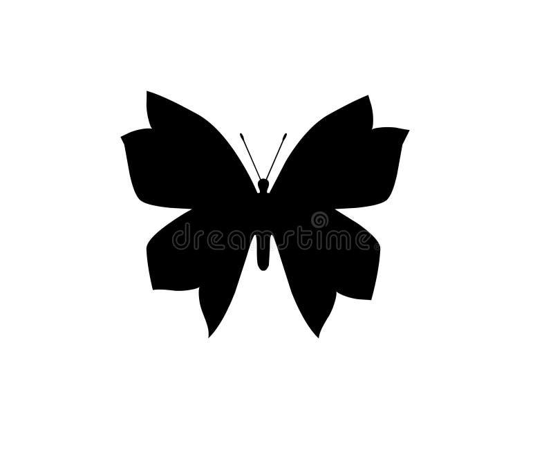Cuore bianco della farfalla isolato sull'elemento bianco dell'oggetto del fondo illustrazione di stock