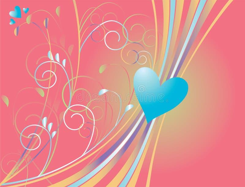 Cuore blu illustrazione di stock