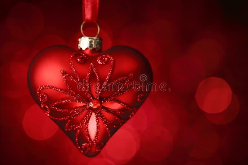Cuore brillante rosso fotografie stock libere da diritti