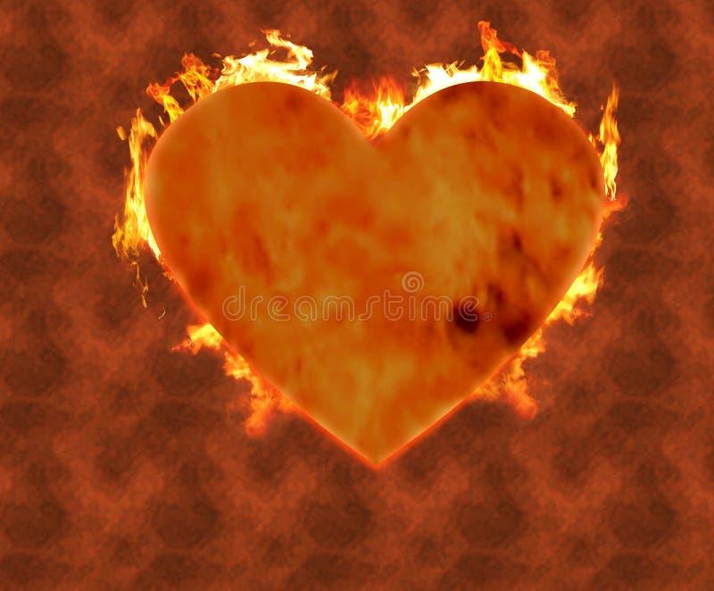 Cuore bruciante 2 fotografie stock