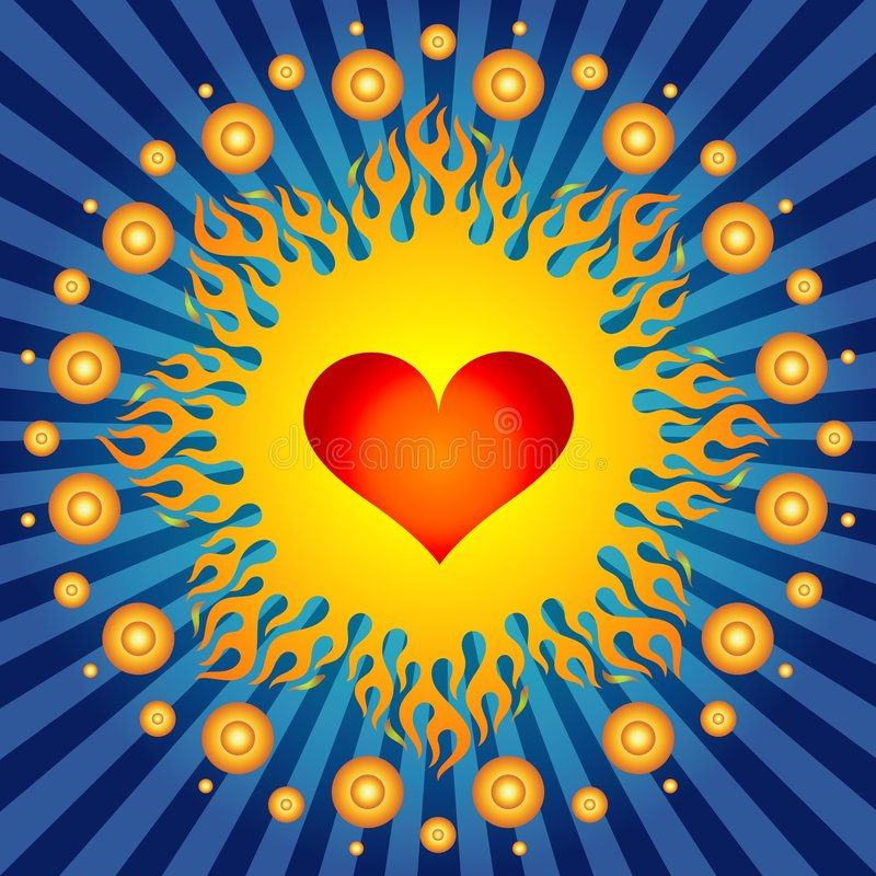 Cuore Burning! illustrazione di stock