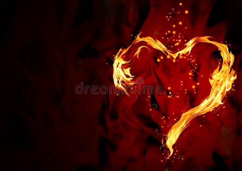 Cuore Burning illustrazione di stock