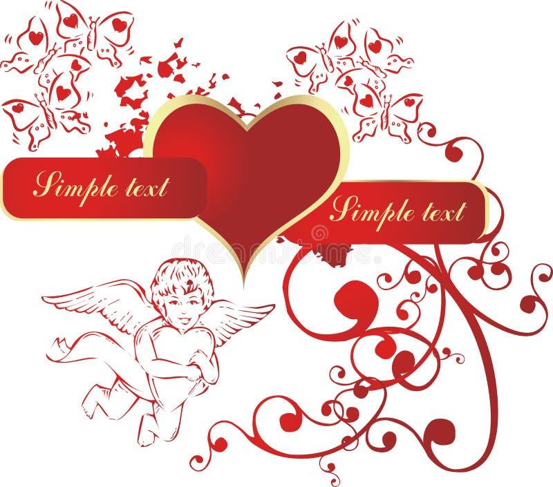 Cuore con il cupid royalty illustrazione gratis